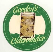 GORDON'S GIN & CIDER CIDEWINDER Old Beermat Drip Mat Coaster 1970-1980s