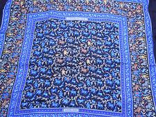 "Hermes scarf CARRE cashmere/silk shawl GM ""CHASSE EN INDE"" black/gray"