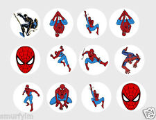Spiderman 30 x cupcake Toppers Edible Rice Paper Cut out