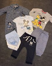 BABY BOYS DISNEY BUNDLE 6-9 Months MICKEY,WINNIE,TOPS,JOGGERS,ROMPER,CLOTHES