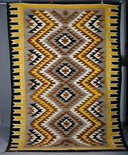 Vintage Navajo rug blanket Native American textile weaving biggest huge 10 feet!