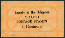 1950's Philippine 4 Centavos 50,000 Cinderella Postage Stamps / Chit - ORANGE