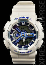NEW WITH TAGS Casio Gshock X-Large Ana-Digi GA110WB-7A WHITE BLUE Watch