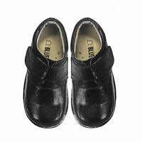 NEW Boys Dress Kids Formal Leather Shoes BLACK SZ 8-13 and sz 1-2-3 Approx3-10Yr