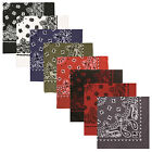 "Bandanas - Extra Large 27"" Trainmen Biker Headwrap Bandana -Red/Black,White,Blue"