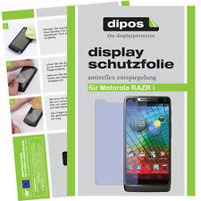 1x Motorola RAZR I Schutzfolie matt Displayschutz Passgenau Folie Schutz dipos