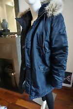 J.Crew Navy Nordic  Parka Jacket Navy Blue Small fit UK 10 to 12