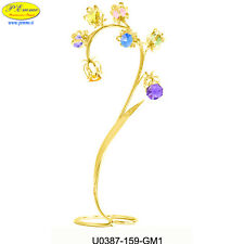 FIORE BLUEBELLS 24K GOLD PLATED CRYSTOCRAFT SWAROVSKI ELEMENTS
