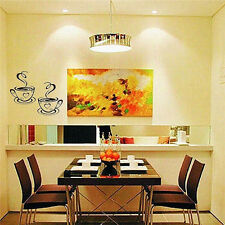 Hot Trendy Coffee Cups Cafe Tea Wall Stickers Art Vinyl Decal for Kitchen Home