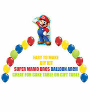 Sega Super Mario Bros Birthday Party BALLOON ARCH for Cake Table or Gift Table
