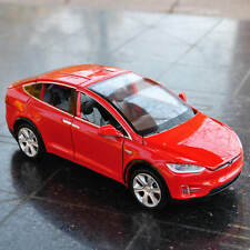 Tesla Model X Diecast Car Model Scale in 1/32 Sound&Light Toys&Collections RED
