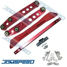 RED REAR SUBFRAME BRACE LOWER CONTROL ARM SET SUSPENSION KIT FOR CIVIC ACURA