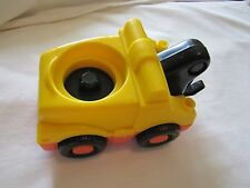 Fisher Price Little People YELLOW TOW TRUCK for CAR Garage Mechanic w/ SOUNDS!