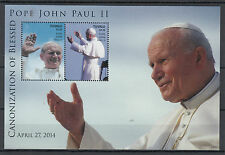 Tuvalu 2014 MNH Canonization Blessed Pope John Paul II 2v S/S II Popes