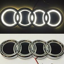 5D LED Car Tail Logo White Light for Audi Q3 Q5 A1 A3 TT Auto Badge Light Emblem