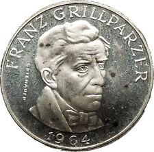 1964 Austria DRAMA Writer Franz Grillparzer 25 Schilling AUSTRIAN Coin i53778