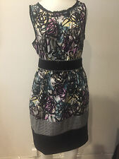 Preowned BCBG MAXAZRIA Multicolor short sleeve Cocktail  DRESS SZ 4! KK