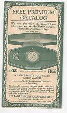 Old Reliable Sales Corporation NY Premium Catalog Candy Baseball Uniform Silver