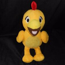 SPROUT SUNNY SIDE UP TV SHOW CHICA SQUEAKING CHICKEN STUFFED ANIMAL PLUSH TOY