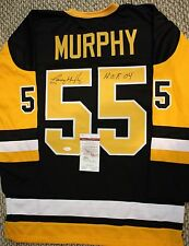 Autographed Larry Murphy Pittsburgh Custom Jersey - JSA Authenticated