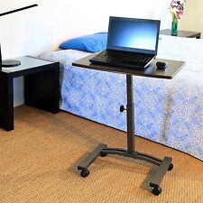 Seville Mobile Laptop Cart Desk Computer Table Portable Tray Adjustable Height
