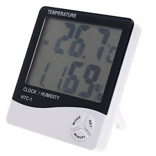 Mini LCD Digital Thermo-hygrometer Temperature Humidity Meter Tester with Clock