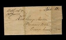 """Bath C H Va. 26th Jan. 38"" m/s to Dr George Morton, Verdiersville Orange County"