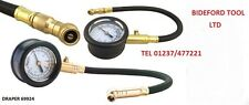 Draper 69924 Tyre Pressure Gauge with Flexible Hose & Air Release Valve CAR VAN