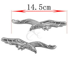 New Universal Plastic Emblem Decals Badge Decor Sticker for motorcycle Silver