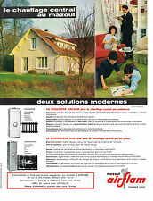 PUBLICITE ADVERTISING  1964  AIRFLAM   chauffage à mazout