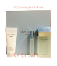 Dolce & Gabbana Light Blue 3 Piece Giftset Perfume 3.3oz EDT D&G Womens Perfume