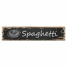 SP0028 Spaghetti Street Sign Bar Store Shop Cafe Home Kitchen Shabby Chic Decor