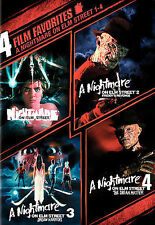 A Nightmare on Elm Street 1-4 (DVD, 2008, 2-Disc Set) FAST SHIPPING