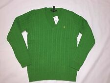 NWT POLO RALPH LAUREN  WOMEN'S V-NECK CABLE KNIT SWEATERS XS/S/M/L/XL