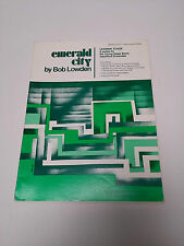 Emerald City Lowden Sheet Music Score Sax Brass Guitar Bass Drum Piano #23D125