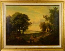 Alfred Bennett (United Kingdom 1861-1916) Landscape Oil On Canvas Painting 1871