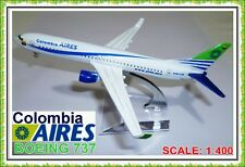 16CM BOEING 737 AIRES COLOMBIA AIRLINE AEROPLANE METAL PLANE MODEL DIECAST TOY