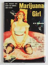 Marijuana Girl FRIDGE MAGNET (2 x 3 inches) humor pot weed