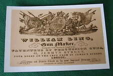 William Ling Gunmakers UN-FRAMED Gun Case Label repo Accessories Repo
