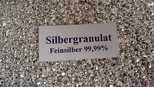 250g SILBER garantiert echtes Feinsilber 99,99% Silbergranulat Nuggets Neuware