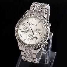 Superbe Montre Genève Quartz Chic Femme Date Beau Cadran Bracelet Métal PROMO