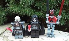 Custom Star Wars DARTH MALGUS,Darth Nihilus,Darth Maul Minifigure + Lego Brick