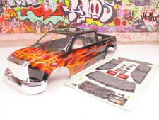 RC4WD 1/8 1/10 Crusher 4 Door Heavy Duty Truck Body Painted Black Flames OZ RC