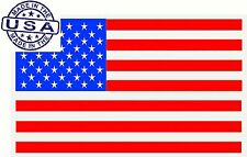 United States USA Country Flag Map Bumper Window Mirror Sticker Decal America