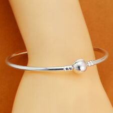 Fashion Silver Ball Clasp Bracelet Bangle for Charms Beads Jewelry