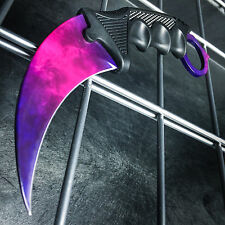 TACTICAL COMBAT KARAMBIT NECK KNIFE Survival Hunting BOWIE Fixed Blade DOPPLER 2