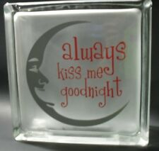 Always Kiss me Goodnight Decal Sticker for Glass Block Shadow Box