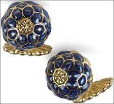 Art Nouveau Blueberry Enamel Cufflinks