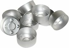 20 Tealight Candle Moulds. Aluminium. For making tealight candles