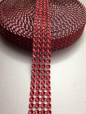 3Yard RED WEDDING CAKE DECORATING TRIM DIAMONTE SPARKLY  RIBBON BRIDAL EFFECT